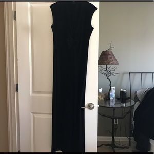 Armani cap sleeve maxi dress